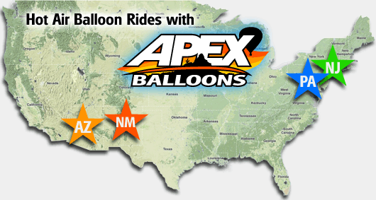 balloon rides in phoenix arizona pennsylvania new jersey balloon flights